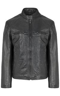 куртка из натуральной кожи на синтепоне Urban Fashion For Men