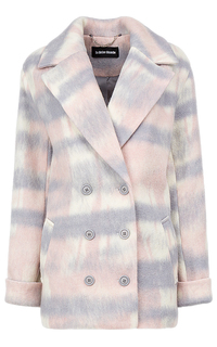 полушерстяное пальто с принтом La Reine Blanche