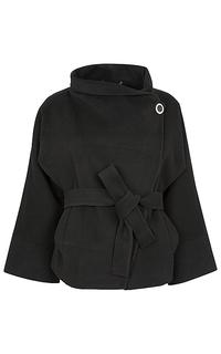 Укороченное пальто с поясом La Reine Blanche