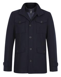 Короткое пальто со съемным воротом Urban Fashion For Men