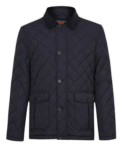 Стеганая куртка на синтепоне с отложным воротником