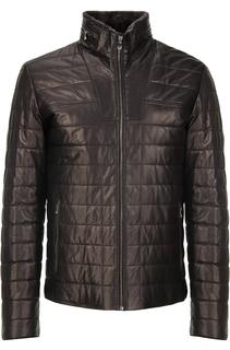 Утепленная куртка из кожи Vericci