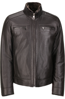 Кожаная куртка утепленная натуральным мехом Jorg Weber