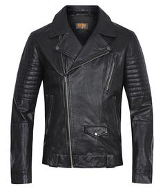 Кожаная куртка-косуха с отделкой Urban Fashion For Men