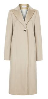 Пальто из вирджинской шерсти и кашемира с отложным воротником Элема
