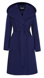 Приталенное пальто с капюшоном и поясом La Reine Blanche