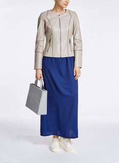 Кожаная куртка с контрастной отстрочкой La Reine Blanche