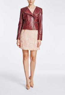 Укороченная куртка из натуральной кожи La Reine Blanche