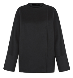 Шерстяное короткое пальто без воротника La Reine Blanche