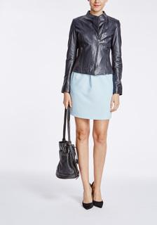 Кожаная куртка с асимметричной застёжкой La Reine Blanche
