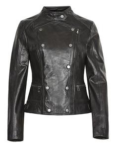 Кожаная куртка в стиле милитари La Reine Blanche