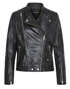 Кожаная куртка-косуха с прострочкой La Reine Blanche