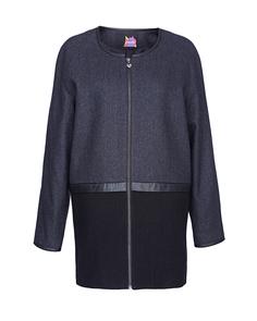 Комбинированное пальто на молнии Neohit