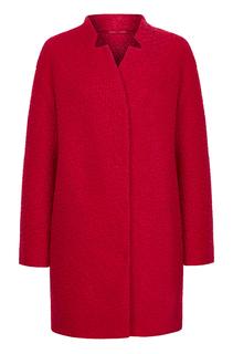 Буклированное пальто со скрытой застежкой Элема