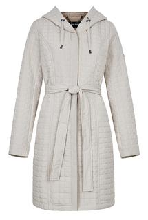 Стеганое пальто с капюшоном и поясом La Reine Blanche