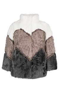 Короткая шуба из меха козлика Virtuale Fur Collection