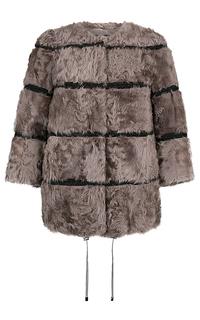 Короткая шуба из меха козлика с отделкой Virtuale Fur Collection