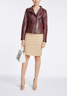 Кожаная куртка с отстрочкой La Reine Blanche
