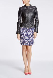 Приталенная кожаная куртка с  эффектом корсета La Reine Blanche