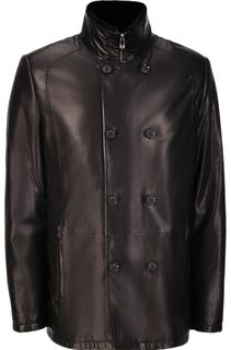 Кожаная куртка утепленная натуральным мехом Vericci