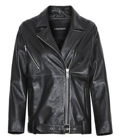 Удлиненная кожаная куртка-косуха La Reine Blanche