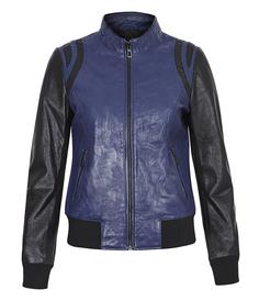 Кожаная куртка-бомбер La Reine Blanche