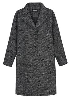 Классическое пальто с отложным воротником La Reine Blanche