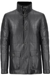 Кожаная куртка утепленная натуральным мехом Al Franco