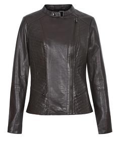 Кожаная куртка с оригинальной прострочкой La Reine Blanche