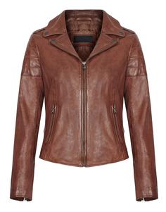 Кожаная куртка на молнии с английским воротником La Reine Blanche