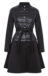 Утепленное пальто-куртка со съемной юбкой из неопрена Acasta