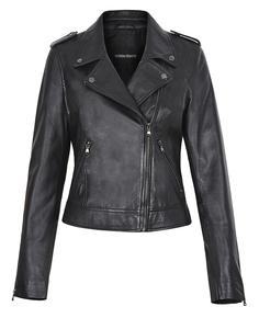 Кожаная куртка с погонами и клепками La Reine Blanche