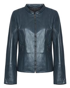 Кожаная куртка с воротником-стойкой Le Monique