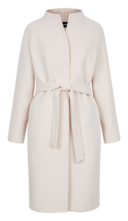 Приталенное пальто с поясом La Reine Blanche