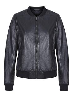 Кожаная куртка-бомбер на молнии La Reine Blanche