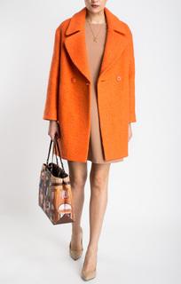 Фактурное пальто с английским воротником La Reine Blanche