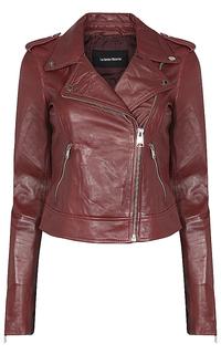 куртка из натуральной кожи с клепками La Reine Blanche