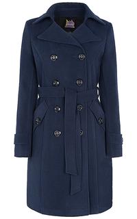 Двубортное пальто с поясом Neohit