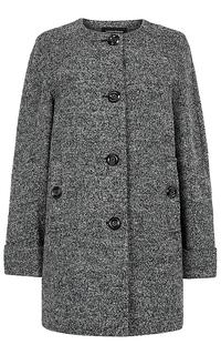 Пальто без воротника La Reine Blanche