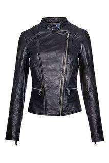 Байкерская куртка со стёгаными вставками La Reine Blanche