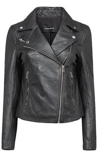 Кожаная куртка-косуха на молнии La Reine Blanche