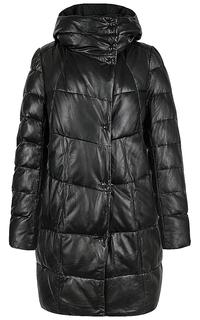 Куртка из натуральной кожи на искусственном пуху La Reine Blanche
