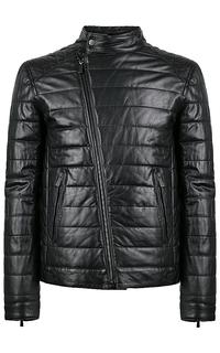 стеганая кожаная куртка на синтепоне Jorg Weber
