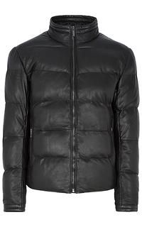 кожаная куртка с утеплителем из искусственного пуха Urban Fashion For Men