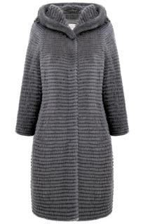 Норковая шуба на трикотажной основе Virtuale Fur Collection