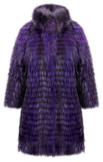 Шуба из лисы на трикотажной основе Virtuale Fur Collection
