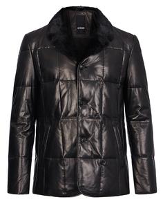 утепленная кожаная куртка с мехом норки Al Franco