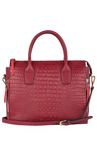 сумка из натуральной кожи с тиснением La Reine Blanche