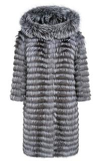 Шуба из меха лисы на трикотажной основе Virtuale Fur Collection