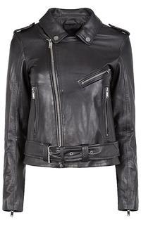 Кожаная куртка в байкерском стиле La Reine Blanche
